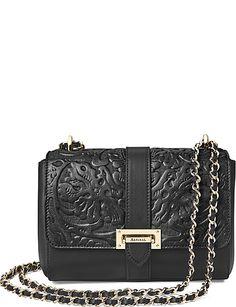 2d8044485059 ASPINAL OF LONDON Lottie floral-embossed leather shoulder bag