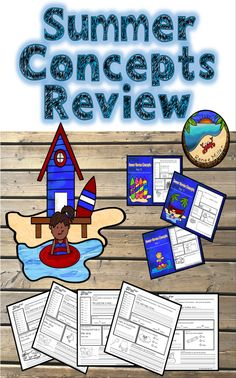 Summer Review Worksheets  Digital Version of the product included for use with Google Slides and Google ClassroomPerfect for first grade First Grade Projects, First Grade Activities, Teaching First Grade, Classroom Activities, Summer Activities, Elementary Teaching, Learning Resources, Teacher Resources, Teaching Ideas
