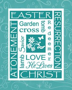 Free Easter Subway Art Printable from http://todaysfabulousfinds.blogspot.com/2011/04/easter-subway-art-prints.html