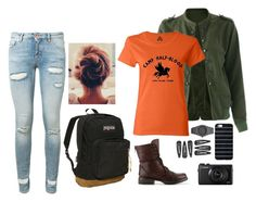 """""""Ootd"""" by blueelephant115 ❤ liked on Polyvore featuring Steve Madden, CC, Off-White and JanSport"""
