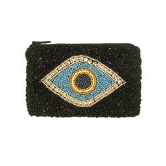 Evil Eye beaded pouch
