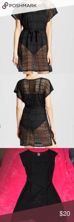 Merona Crochet Cover Up black Dress size small Merona Crochet Cover Up black Dress size small Merona Swim Coverups