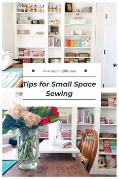 Tips for Small Sewing Spaces featured by Top US Quilting Blog, A Quilting Life Small Sewing Space, Sewing Spaces, Small Spaces, Quilting Room, Quilting Tips, Stash Fabrics, Organize Fabric, Make A Plan, Vinyl Plank Flooring