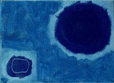 Two Dark Ultras in Acid Blue: July 62 (oil on canvas) Patrick Heron Patrick Heron, Turquoise Art, Composition Design, St Ives, Cornwall, Yorkie, Color Combos, Art Work, Art Decor