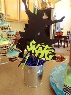 Skateboard theme birthday party