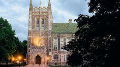 The Burns Library at Boston College (BC) in Boston, Massachusetts