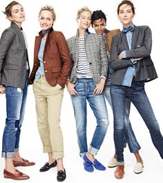 Blazer, Jeans, Flats … J.Crew immer Blazers, Jeans, Flats … J.Crew always … Blazer Jeans, Outfit Jeans, Tweed Blazer, Tomboy Fashion, Work Fashion, Fashion Outfits, Mode Outfits, Fall Outfits, Casual Outfits