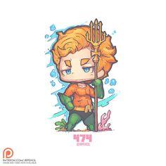474 - Classic Aquaman, Jr Pencil on ArtStation at https://www.artstation.com/artwork/kK5EA