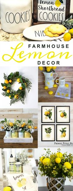 Farmhouse Lemon Decor - freshen up your home with some farmhouse lemon decor! #farmhouse #farmhousestyle #farmhousedecor #lemon #summer #homedecor #forthehome #etsy #etsyfinds #wreaths #signs