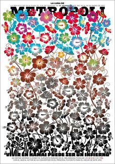 "Metropoli (Spain)    Watch the headline type grow into flowers on this new cover featuring movie ""The Descendants.""    Ace new La Luna de Metrópoli magazine, the weekly supplement of Spanish newspaper El Mundo.     Illustration Raul Arias"
