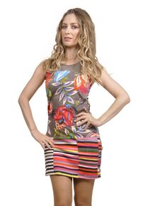 Savage Culture:  Luela Sleeveless Color Block Bouquet Dress/Tunic (Cupid's Special!), $59.00. The Chicest color block and flower design we've ever seen! Only on WC!