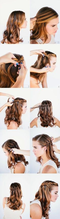 Waterfall Braid Tutorial: Prom Hairstyles Ideas 2014
