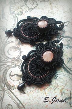 "Earrings handmade.  ""Twilight"" earrings.  Eugene.  Online Store Fair Masters.  Pink, sutazhnye earrings, copyrights jewelry, bead"