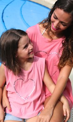 a7ea6e27500 Jersey Heart t-shirts for mums and daughters. At Baliza shop