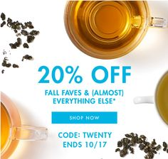 Teavana Canada Offers: Save 20% off Sitewide FREE 2 oz Mulled Pomegranate Cider Herbal Tea & FREE Shipping On $... http://www.lavahotdeals.com/ca/cheap/teavana-canada-offers-save-20-sitewide-free-2/126757