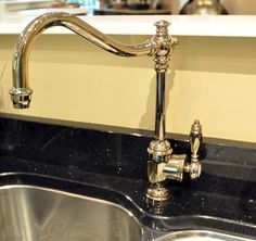 @waterstoneusa Annapolis Single Hole Kitchen Faucet - Polished Nickel Faucet