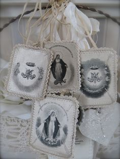 Vintage scapulars. I still have mine from First Holy Communion