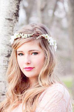 #coiffure #mariage #fleurs #cheveux libres