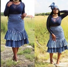 2018 Shweshwe Traditional Dresses Traditional Wedding / Dresses And Wear ⋆ African Dresses For Women, Latest African Fashion Dresses, African Print Dresses, Ankara Styles For Women, African Print Skirt, African Clothes, Ankara Fashion, African Prints, Fashion Outfits