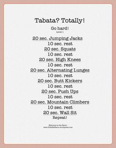 Tabata circuit< high knees, squats, legs, thighs, abs, cardio workout