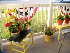 Apartment Patio Projects- something like this is doable!