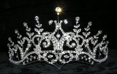 Squeal!!!  Rhinestone Jewelry Corporation has tons of crowns, scepters, necklaces, etc.  Very reasonably priced.  Only $32.50 for this pretty little thing!