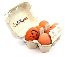 #Bizcocho casero. Instantánea de los huevos empleados... ¡no quieren ser cocinados! #Humor
