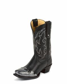 Women's Black Vail Boot...I love the faux steel toe look!