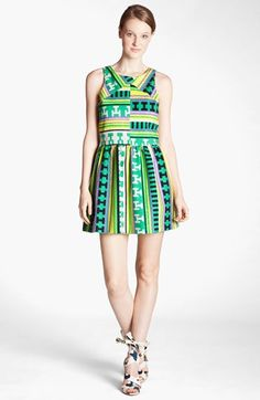 MSGM Ikat Print Dress available at #Nordstrom