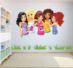 Lego friends Girls Wall Sticker 2 by CreativeWallStickers on Etsy