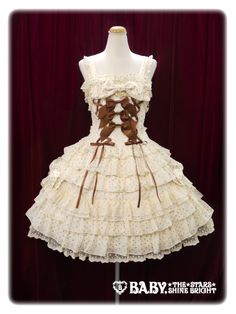 NWT BTSSB Dot Millefeuille JSK-Cream « Lace Market: Lolita Fashion Sales and Auctions