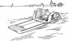 Paddle Wheel Boat Plans - How to Build a Paddle-Wheel Boat By P. Baumeister ~ What Is - Encyclopedia Pedal Boat, Floating Dock, Diy Boat, Apocalypse Survival, Canoe And Kayak, Boat Plans, Boat Building, Paddle Boarding, Fishing Boats