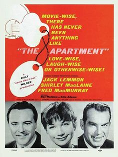 The Apartment (1960)/ Director: Billy Wilder / A man tries to rise in his company by letting its executives use his apartment for trysts, but complications and a romance of his own ensue.