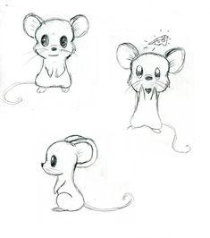 Mice by on DeviantArt - Digitale Fotographie Cute Easy Drawings, Cool Art Drawings, Art Drawings Sketches, Disney Drawings, Animal Sketches Easy, Cute Sketches, Cartoon Drawings Of Animals, Cute Animal Drawings, Cartoon Tiger