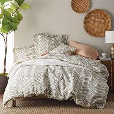 Duvet covers to fit decor in any room: A duvet gives your bedroom a whole new look - and keep your comforter clean - in one easy step. The Company Store Interior Design Living Room, Living Room Decor, Bedroom Decor, Bedroom Ideas, Master Bedroom, Full Duvet Cover, Duvet Covers, Dream Rooms, Bedding Sets