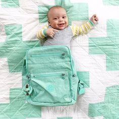 Baby in a backpack!! I'm in love with this @kiplingusa backpack in my favorite color!! It matches almost everything in my house, which makes it the perfect addition to my bag collection!  #mykipling #sp via @livesweetphotography