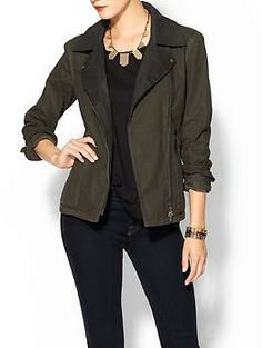 Dolce Vita Ensa Waxed Cotton Jacket | Piperlime  love the military jacket look!