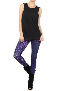Purple Dragon Skin Leggings | POPRAGEOUS