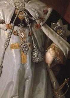 Portrait of Prince A. B. Kurakin by Vladimir Borovikovsky, 1799 (detail)