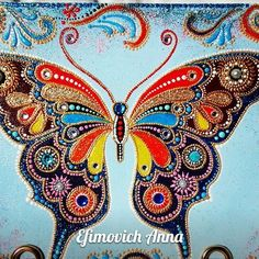 Anna Efimovich: – Наталья – Join in the world of pin Glass Painting Designs, Dot Art Painting, Butterfly Painting, Mandala Painting, Butterfly Art, Stone Painting, Butterflies, Mandala Painted Rocks, Mandala Dots
