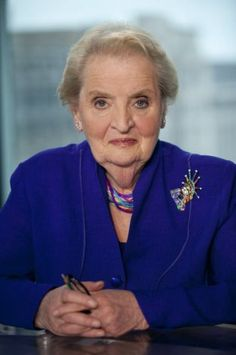 Madeleine Albright - I love her ever changing brooches