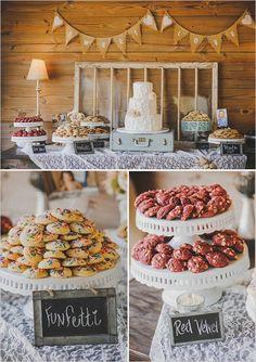 Vintage wedding dessert table #cookies #weddingcake #dessert #desserttable #weddingdessert