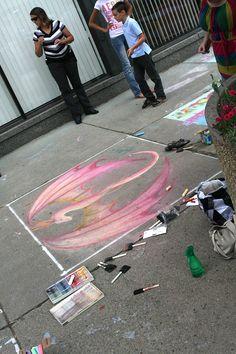 More art Chalk Art, Art Festival, Buffalo, Kids Rugs, 3d, Home Decor, Decoration Home, Kid Friendly Rugs, Room Decor
