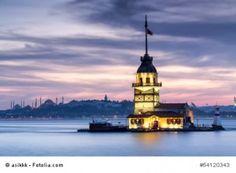 Maidens Tower in Istanbul als Bild bestellen unter www.leinwand-druck.net bestellen. Wähle ein Produkt, gebe in fotolia Bildarchiv die Nummer: 54120343 ein und wähle dein Wunschformat aus. FERTIG viel Spaß