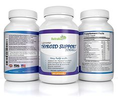 Thyroid Support Supplement For Vegetarians Dietary Weight Loss Complex  30 Day Supply  Best Thyroid Helper with Zinc Iodine Vitamin B12 Copper  US Made >>> Read more reviews of the product by visiting the link on the image.