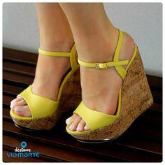 salto anabela - yellow - colors - amarelo - salto alto - Ref. 14-13627 - Alto Verão 2015