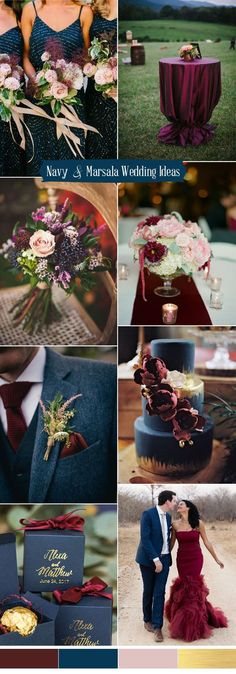 blue, marsala and pink wedding color ideas for 2017 october wedding colors schemes / fall wedding ideas colors october / fall wedding ideas november / fall winter wedding / fall colors for wedding Wedding 2017, Trendy Wedding, Perfect Wedding, Dream Wedding, Wedding Day, Wedding Table, Chic Wedding, Wedding Cakes, Rustic Wedding