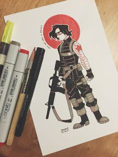 Inktober #18, the Bucky Bear~ broke out my trusty red copic for this one, I should do it more often.