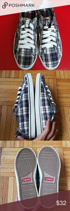 Izod Player Plaid Men's Sneakers Brand New without box! Never worn! Just sitting in the closet! Izod Player Plaid Men's Sneakers  -size 7 -classic plaid pattern Izod Shoes