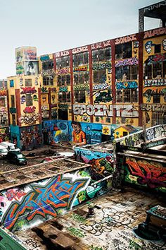 The graffiti Mecca of the WORLD. I visited 5 Pointz a week before it was shut down and a few weeks after the warehouse was white-washed. There are not many things that take my breath away, but this place did.